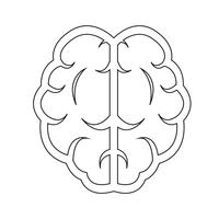 Hersenen pictogram symbool teken