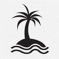 eiland pictogram symbool teken
