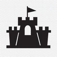 kasteel pictogram symbool teken