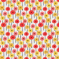 Patroon met pastel bloem. Vector illustratie achtergrond.