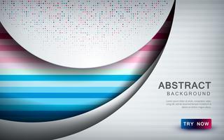 De samenvatting gekleurde achtergrond met witte overlappingslaag, textuurvorm en schittert decoratie vector