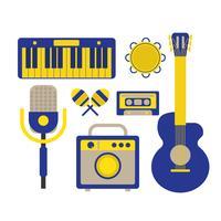 Muziek Instrumentpictogram vector