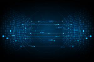 Interconnectie van digitale systemen. vector