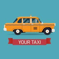Geel taxi cab ontwerpelement