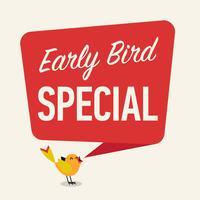 Early Bird Special-banner vector