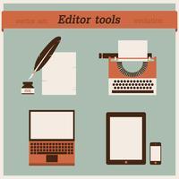 Editor gereedschappen. Vector illustratie