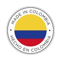 Gemaakt in Colombia vlagpictogram.