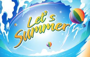 Laten we zomer zijn vector