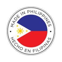 Gemaakt in Filipijnen vlagpictogram. vector