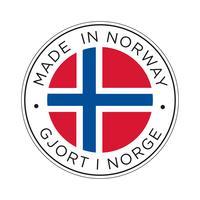 Gemaakt in Noorwegen vlagpictogram. vector