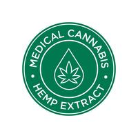 Hennepextract pictogram. Medicinale cannabis.