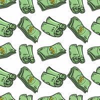 Handgetekende geld patroon