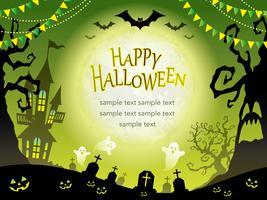 Naadloze Gelukkige Halloween-achtergrond met tekstruimte vector