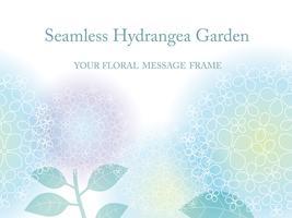 Naadloze vectorillustratie als achtergrond met hydrangea hortensia's.