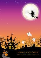 Happy Halloween naadloze achtergrond met tekst ruimte. vector
