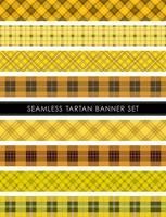 Naadloze Tartan plaid banner set, vectorillustratie. vector