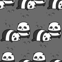 Naadloos patroon van 2 leuk panda's. vector