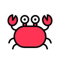 Krab vector, tropische gerelateerde gevulde stijl icoon vector
