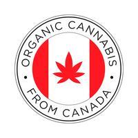 Pictogram biologische cannabis uit Canada.