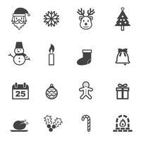 Kerst iconen symbool vector