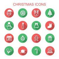 Kerstmis lange schaduw pictogrammen