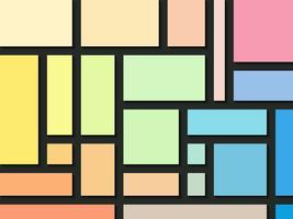Rechthoek kleuren abstracte achtergrond. vector