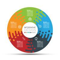 Cirkels van bedrijfscirkels vormen de bar van de infographicgroepen. vector