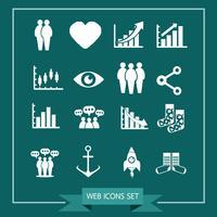 Set van web-iconen voor website en communicatie vector