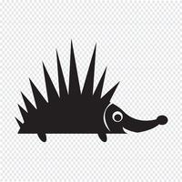 Egel pictogram symbool teken