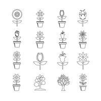 Flower Icon Set voor website