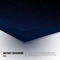 Abstracte papier kunst en halftone stijl lay-out sjabloon. Donkerblauwe gradiëntdriehoeken overlappende realistische schaduwen op wit achtergrondluxeconcept. U kunt materiaalontwerp gebruiken voor brochure, bannerweb, poster