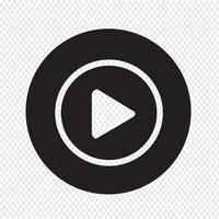speel knop pictogram ontwerp illustratie vector