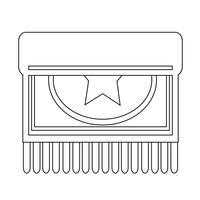Tapijt pictogram ontwerp illustratie