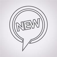 Nieuw pictogram symbool teken vector