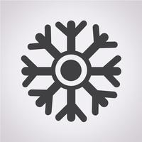 sneeuwvlok pictogram symbool teken
