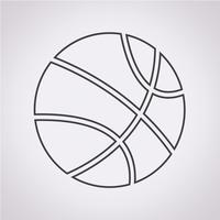 Basketbal pictogram symbool teken