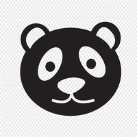 Panda pictogram symbool teken