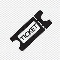 ticket pictogram symbool teken