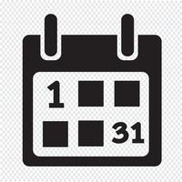 Kalender pictogram symbool teken