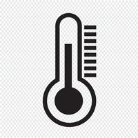 thermometer pictogram symbool teken vector