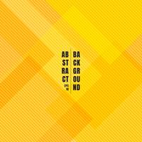Abstracte gele geometrische vierkanten die met de diagonale textuur en de achtergrond van het lijnenpatroon overlappen.