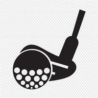 Golf pictogram symbool teken
