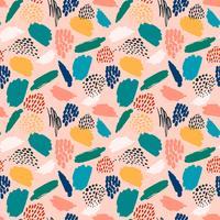 Abstract artistiek naadloos patroon met trendy hand getrokken texturen