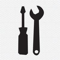 Gereedschap pictogram symbool teken