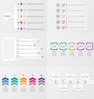 Set van infographics element sjabloon met opties. vector
