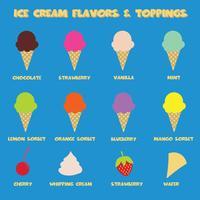 ijs smaken vector