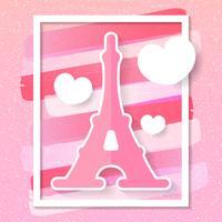 De Stads Vectorhorizon van Parijs in Stijl van Document