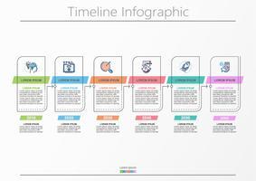 Visualisatie van bedrijfsgegevens. tijdlijn infographic pictogrammen ontworpen voor abstracte achtergrond sjabloon.