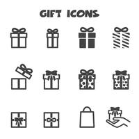 cadeau pictogrammen symbool vector