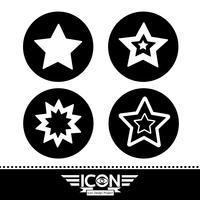 ster pictogram symbool teken vector